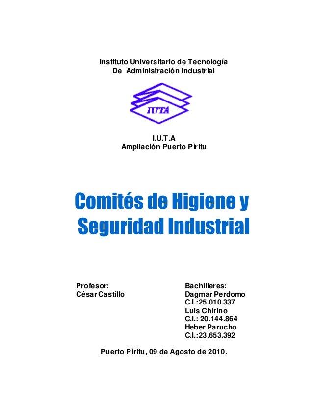 Instituto Universitario de Tecnología De Administración Industrial I.U.T.A Ampliación Puerto Píritu Profesor: Bachilleres:...