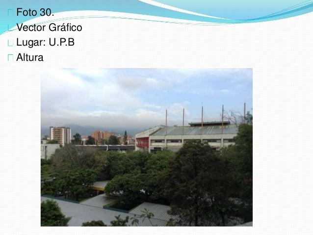 Foto 30. Vector Gráfico Lugar: U.P.B Altura