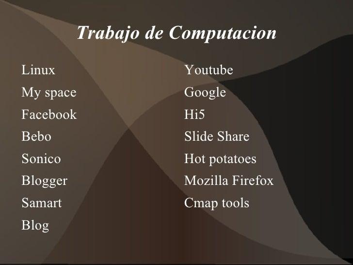 Trabajo de Computacion <ul><li>Linux