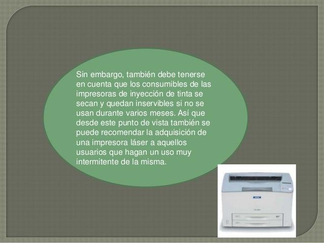 Desde 1975 a la fecha, año en que se registra la primera impresora láser, el desarrollo de éstas ha sido vertiginoso. Orig...