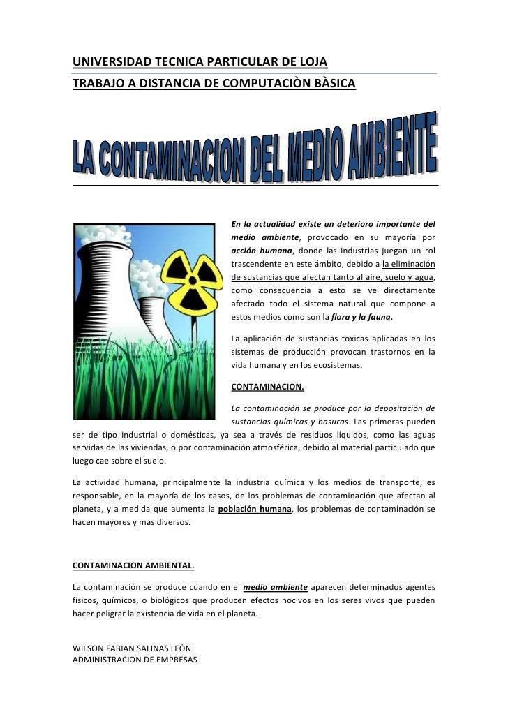 left1691005<br />En la actualidad existe un deterioro importante del medio ambiente, provocado en su mayoría por acción hu...