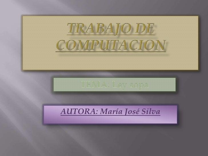 TEMA: Ley sopaAUTORA: María José Silva