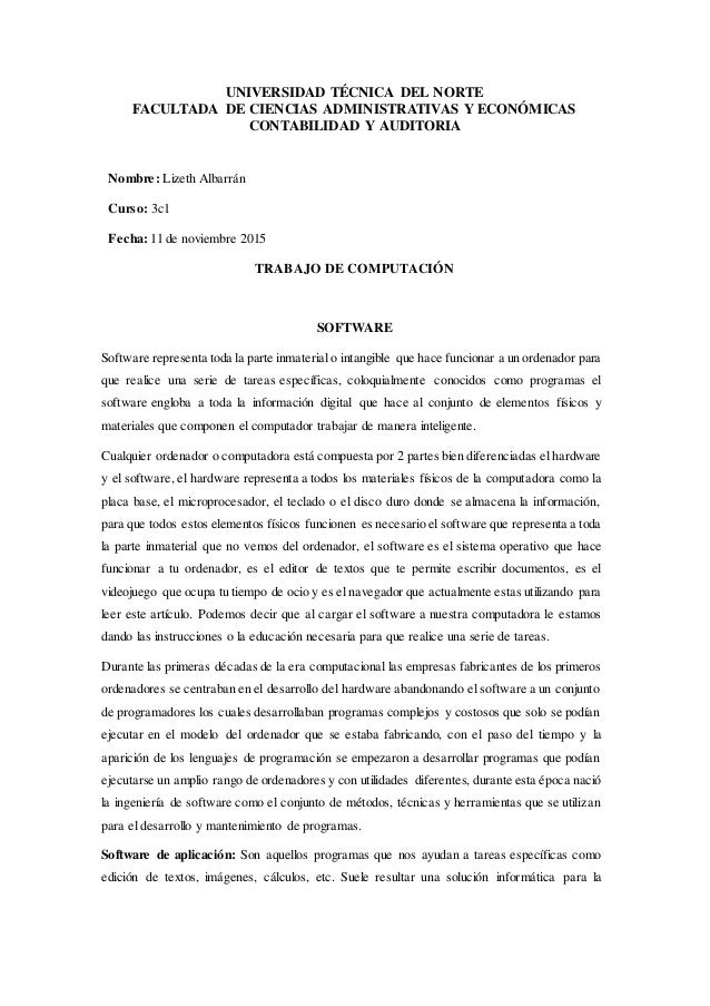 UNIVERSIDAD TÉCNICA DEL NORTE FACULTADA DE CIENCIAS ADMINISTRATIVAS Y ECONÓMICAS CONTABILIDAD Y AUDITORIA Nombre: Lizeth A...