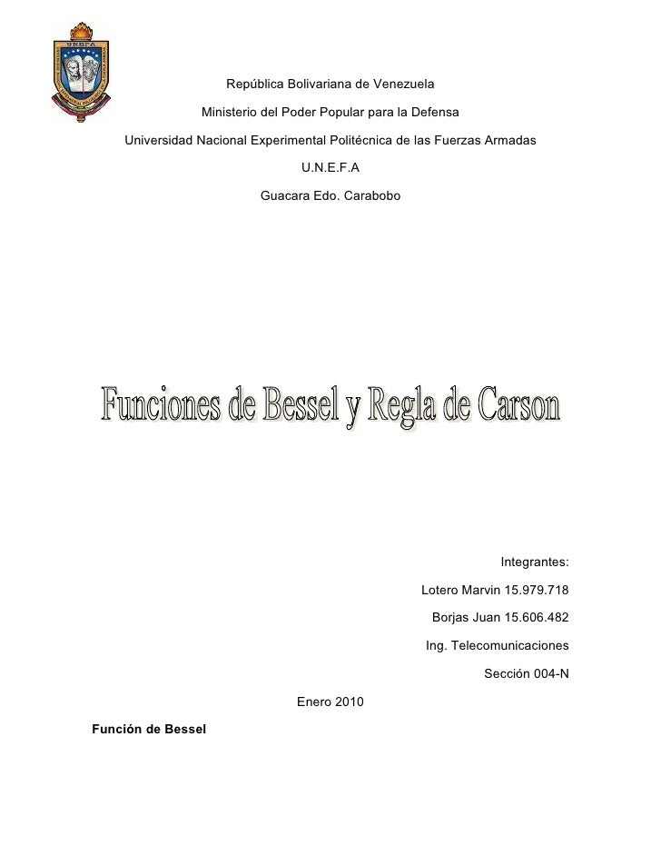 República Bolivariana de Venezuela                  Ministerio del Poder Popular para la Defensa      Universidad Nacional...