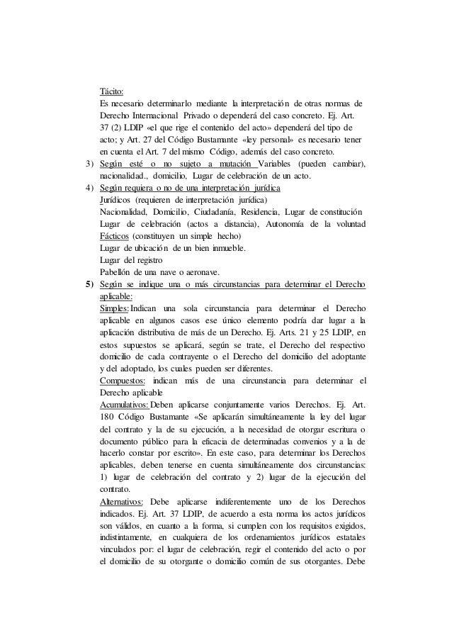 Tácito: Es necesario determinarlo mediante la interpretación de otras normas de Derecho Internacional Privado o dependerá ...
