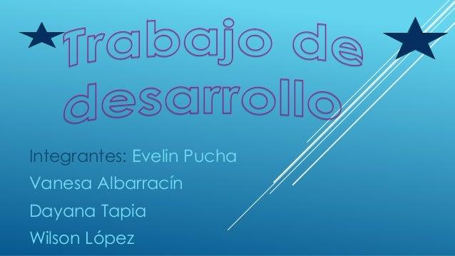 Integrantes: Evelin Pucha  Vanesa Albarracín  Dayana Tapia  Wilson López