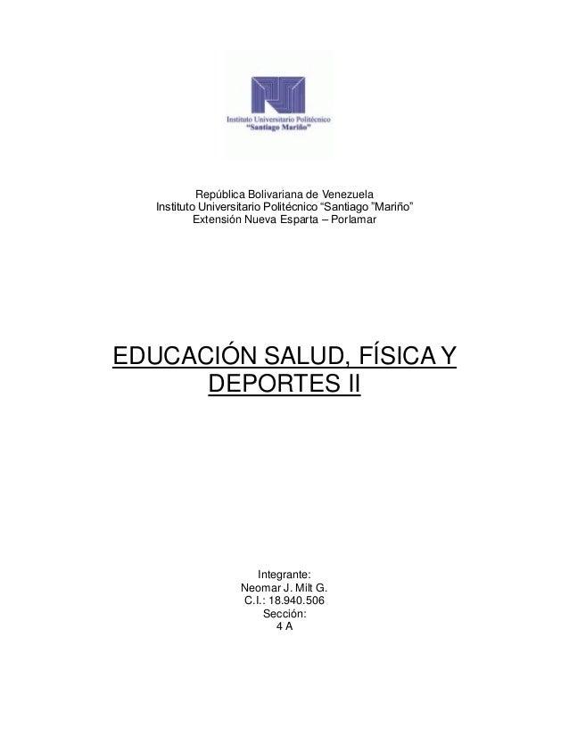 """República Bolivariana de Venezuela Instituto Universitario Politécnico """"Santiago """"Mariño"""" Extensión Nueva Esparta – Porlam..."""