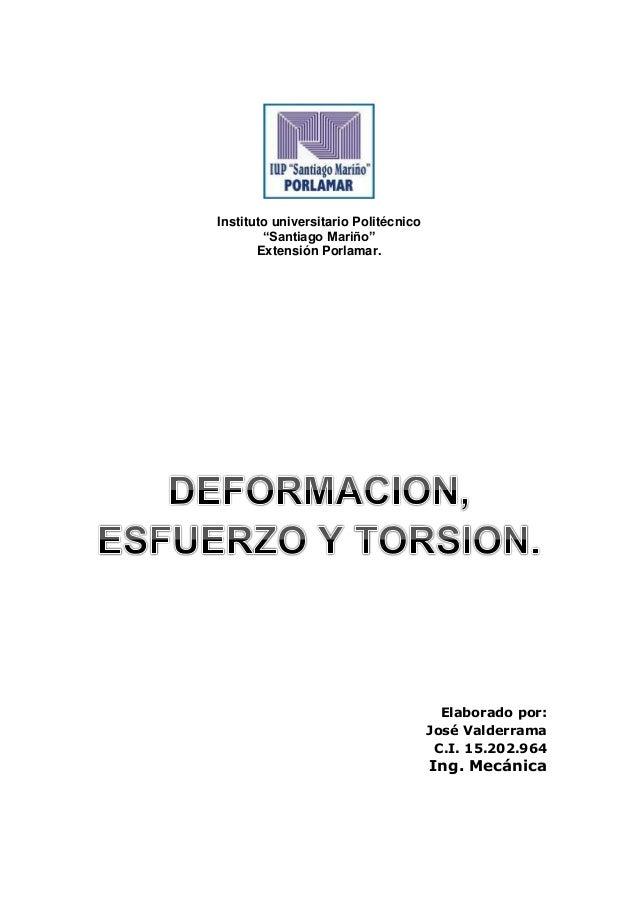 """Instituto universitario Politécnico """"Santiago Mariño"""" Extensión Porlamar. Elaborado por: José Valderrama C.I. 15.202.964 I..."""