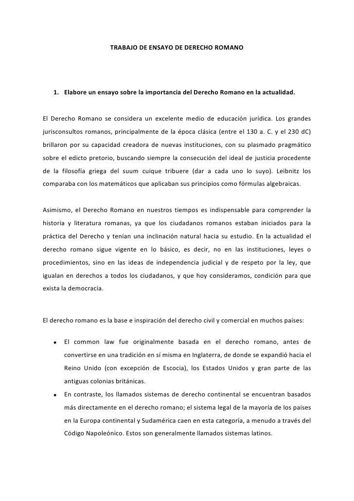 Analisis Del Matrimonio Romano Y El Actual : Trabajo de ensayo derecho romano