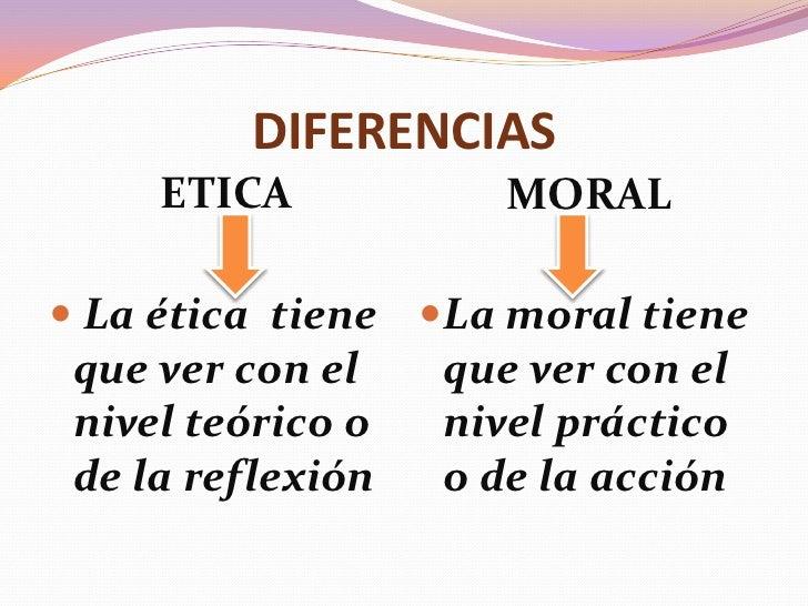 Que Diferencia Hay Entre La Etica Y La Moral Esta Diferencia
