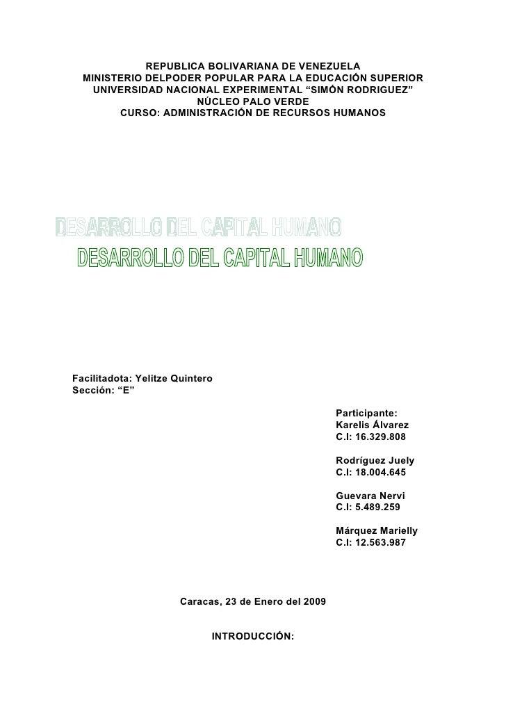 REPUBLICA BOLIVARIANA DE VENEZUELA   MINISTERIO DELPODER POPULAR PARA LA EDUCACIÓN SUPERIOR     UNIVERSIDAD NACIONAL EXPER...