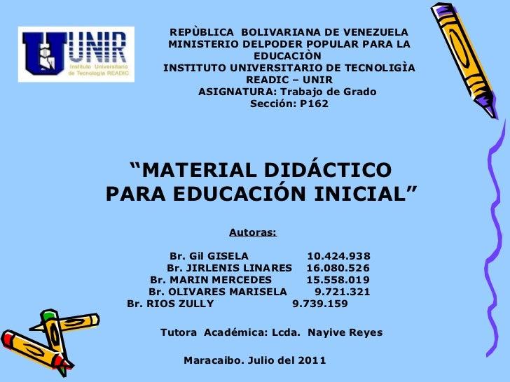 REPÙBLICA  BOLIVARIANA DE VENEZUELA MINISTERIO DELPODER POPULAR PARA LA EDUCACIÒN  INSTITUTO UNIVERSITARIO DE TECNOLIGÌA R...