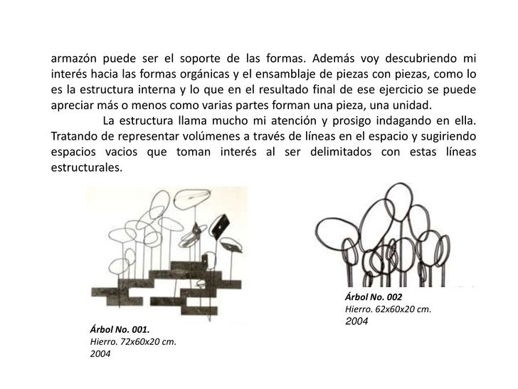 armazón puede ser el soporte de las formas. Además voy descubriendo mi interés hacia las formas orgánicas y el ensamblaje ...