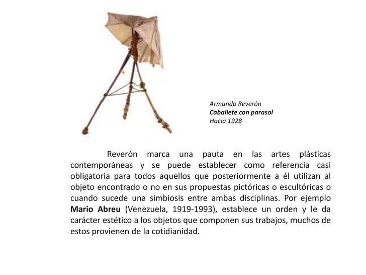 Armando Reverón<br />Caballete con parasol<br />Hacia 1928<br />Reverón marca una pauta en las artes plásticas contemporán...