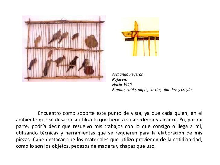 Armando Reverón<br />Pajarera<br />Hacia 1940<br />Bambú, cable, papel, cartón, alambre y creyón<br />Encuentro como sopor...