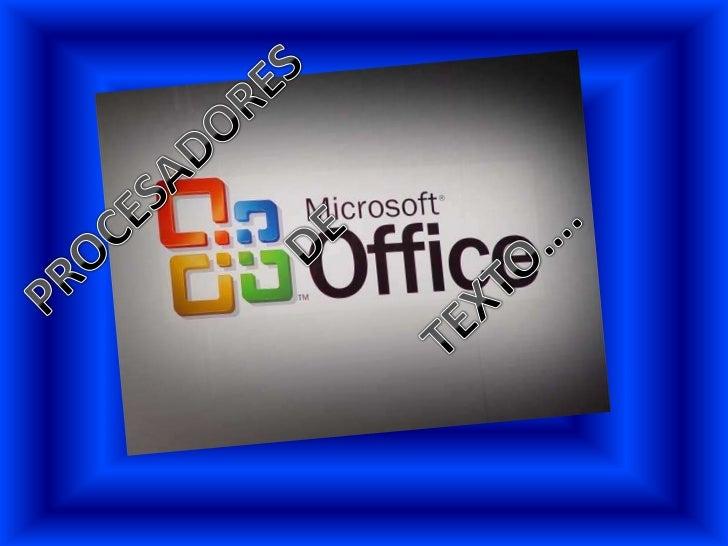 Por definición, un procesador de texto es un software informáticodestinado a la creación y edición de documentos de texto....