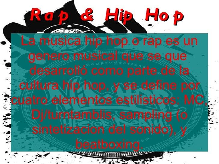 Hip Hop-Rap. Los mejores raperos en español.
