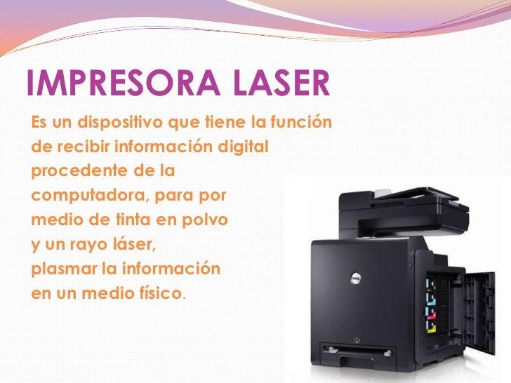 Definicion y funciones de las impresoras laser for Origen y definicion de oficina