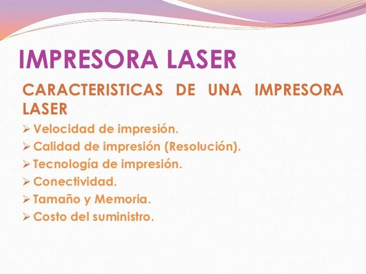 Definicion Y Funciones De Las Impresoras Laser