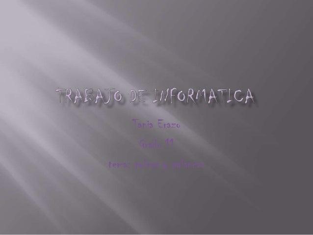 Tania Erazo Grado 11 tema: poleas y palancas