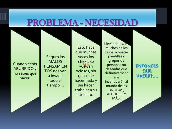 PROBLEMA - NECESIDAD<br />