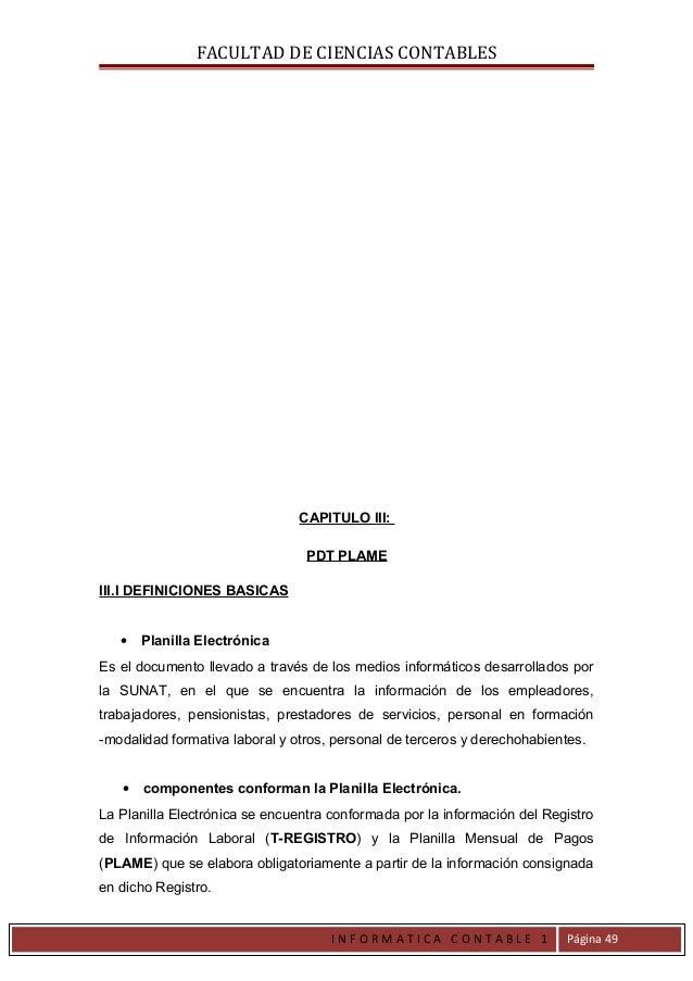 FACULTAD DE CIENCIAS CONTABLES                                CAPITULO III:                                 PDT PLAMEIII.I...