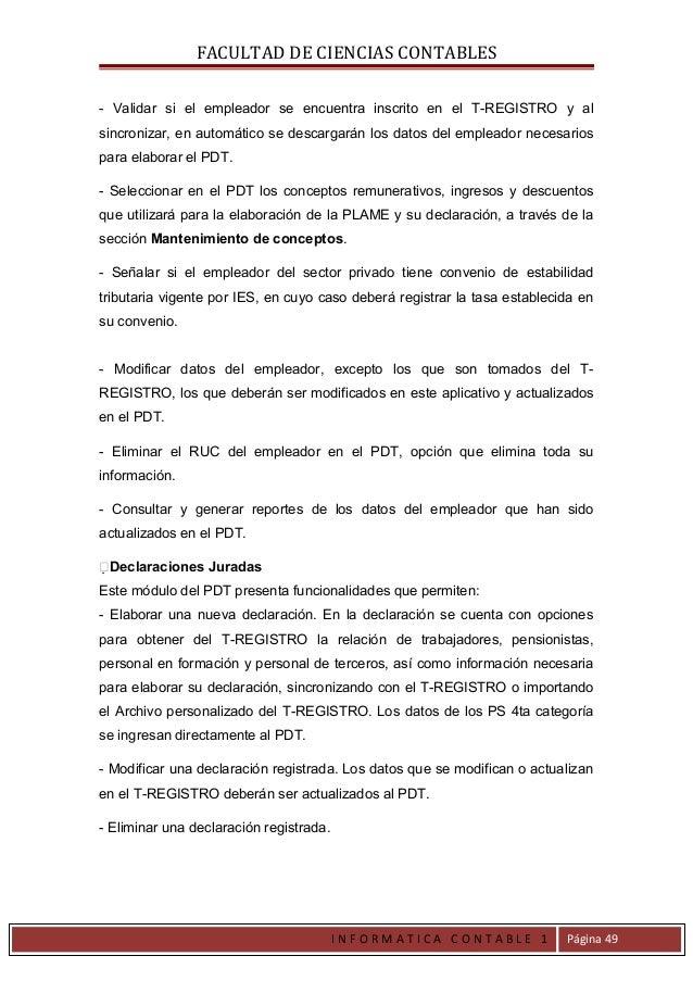FACULTAD DE CIENCIAS CONTABLES- Validar si el empleador se encuentra inscrito en el T-REGISTRO y alsincronizar, en automát...