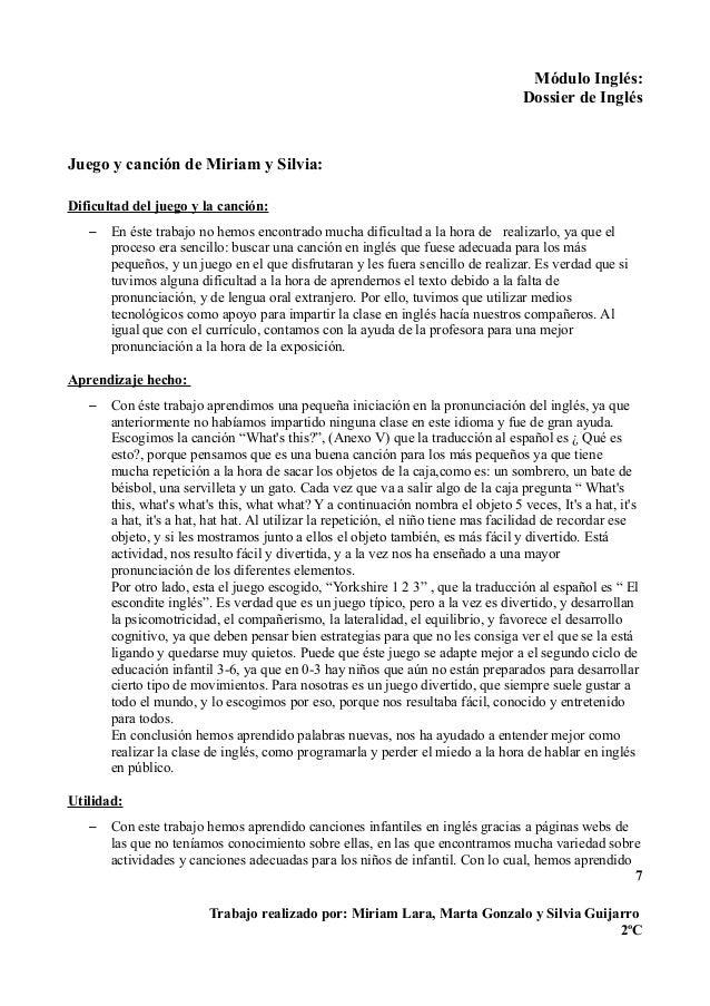 Trabajo De Ingles Dossier