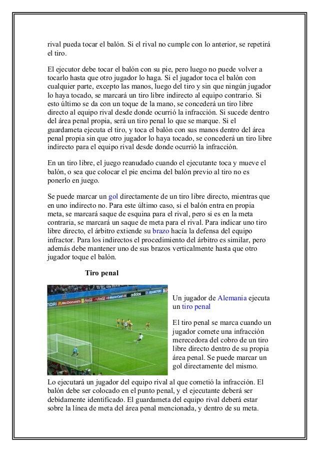 Trabajo de investigación de fútbol