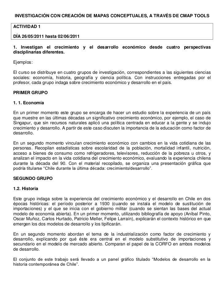 INVESTIGACIÓN CON CREACIÓN DE MAPAS CONCEPTUALES, A TRAVÉS DE CMAP TOOLS<br />ACTIVIDAD 1 <br />DÍA 26/05/2011 hasta 02/06...