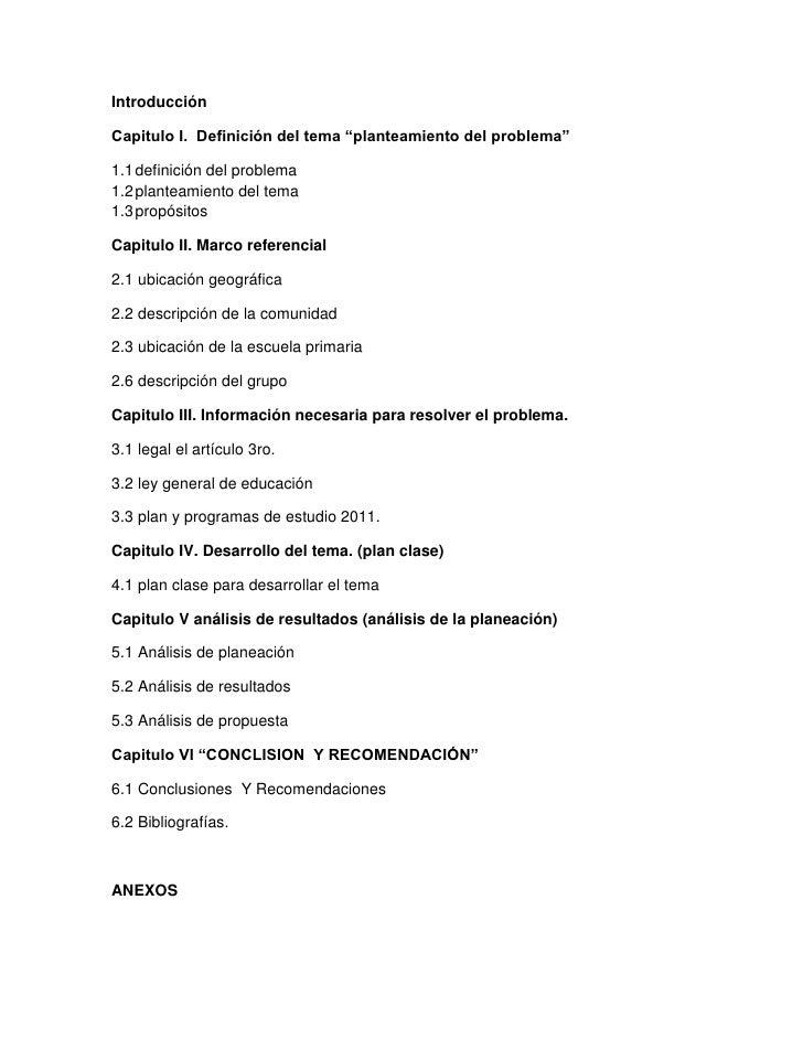 """IntroducciónCapitulo I. Definición del tema """"planteamiento del problema""""1.1 definición del problema1.2 planteamiento del t..."""