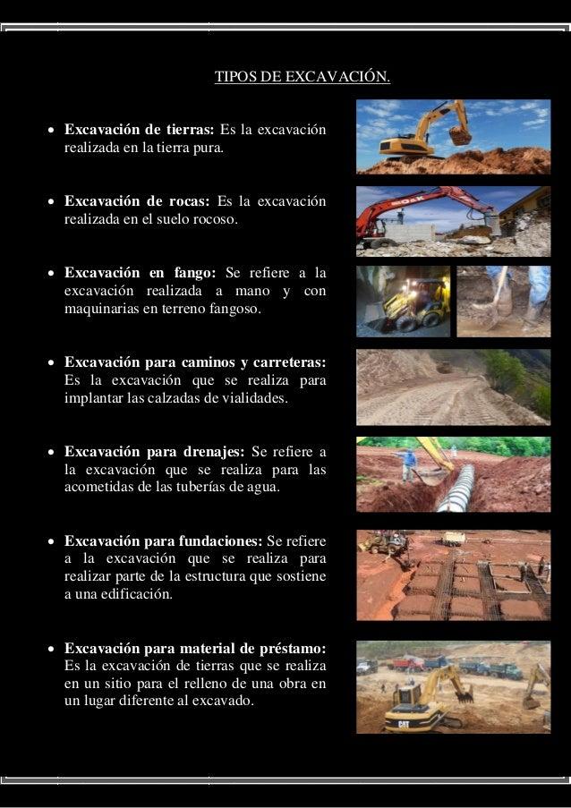 Trabajo de investigacion construccion for Tipos de terreno