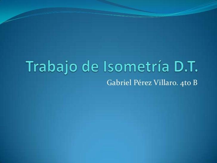 Gabriel Pérez Villaro. 4to B