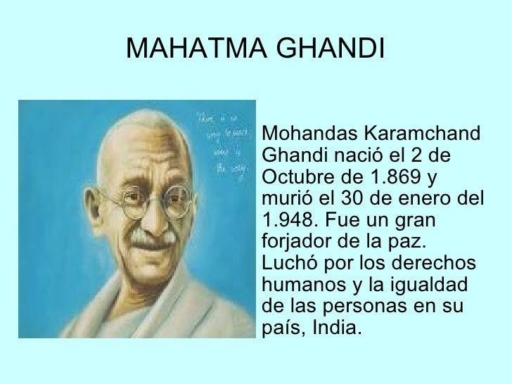 Resultado de imagen de paz 30 de enero consejos de gandhi