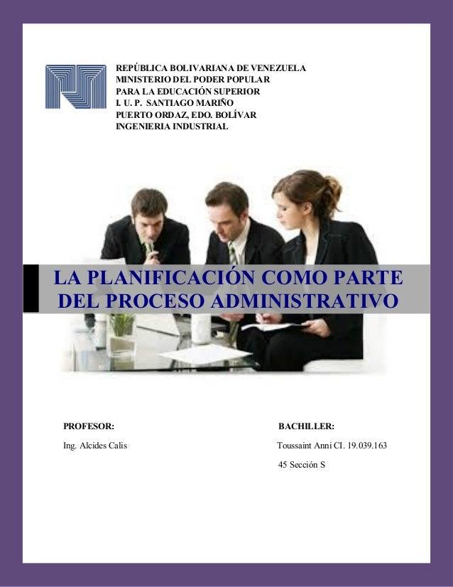 REPÚBLICA BOLIVARIANA DE VENEZUELA MINISTERIO DEL PODER POPULAR PARA LA EDUCACIÓN SUPERIOR I. U. P. SANTIAGO MARIÑO PUERTO...