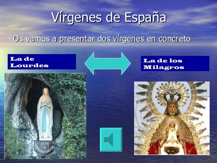 Vírgenes de España <ul><li>Os vamos a presentar dos vírgenes en concreto </li></ul>La de Lourdes La de los Milagros