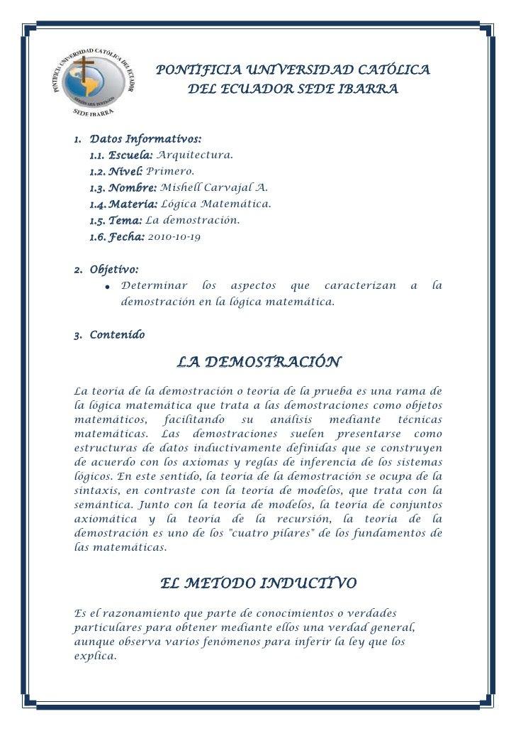 -332105-192405PONTIFICIA UNIVERSIDAD CATÓLICA DEL ECUADOR SEDE IBARRA<br />Datos Informativos: <br />Escuela: Arquitectura...