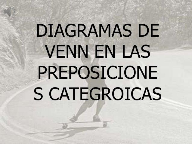 DIAGRAMAS DE VENN EN LASPREPOSICIONES CATEGROICAS
