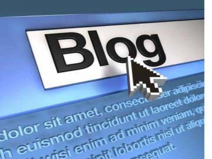 DefiniciónUn blog se define como una web que se actualiza de unaforma periódica, donde cronológicamente van a apareciendoa...