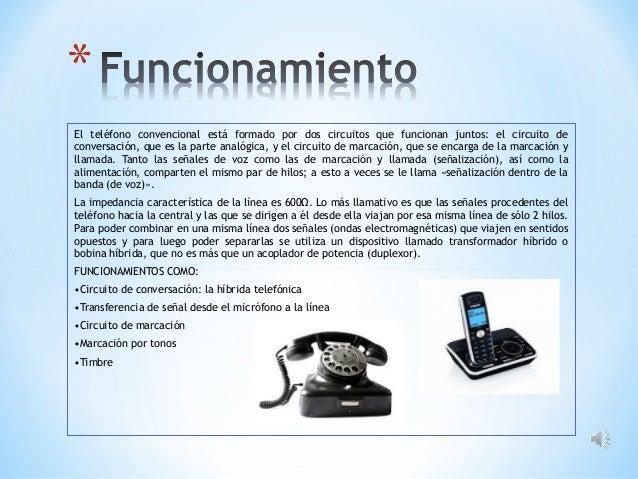 El teléfono convencional está formado por dos circuitos que funcionan juntos: el circuito de conversación, que es la parte...
