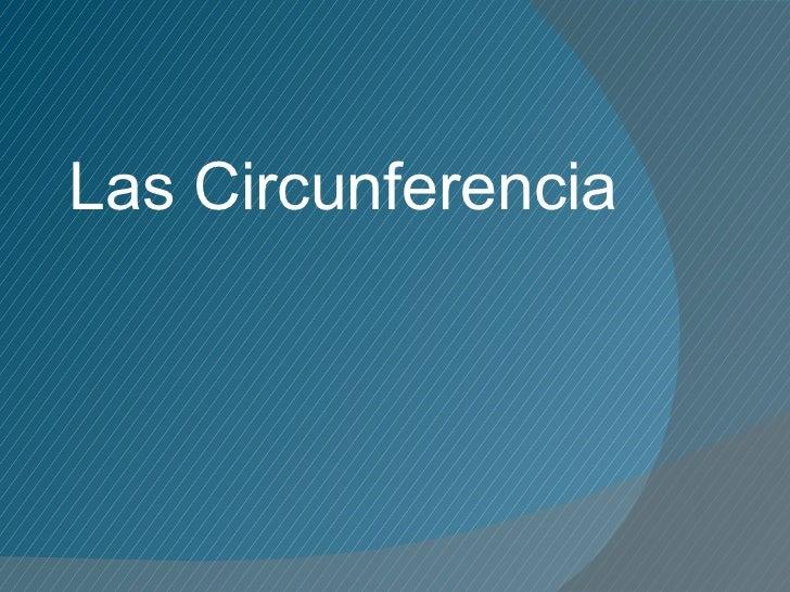 Las Circunferencia