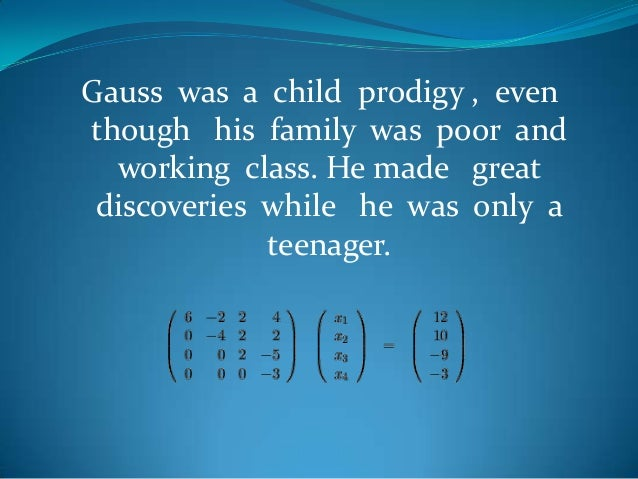 Maths Project - Gauss Slide 3