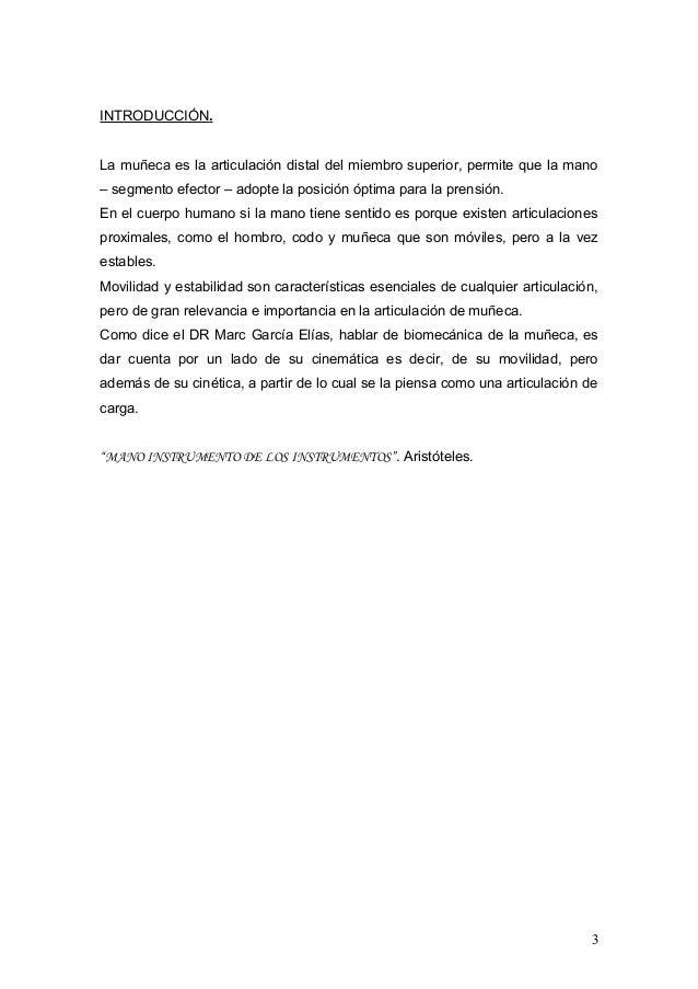 Biomecànica y propiocepciòn de Muñeca