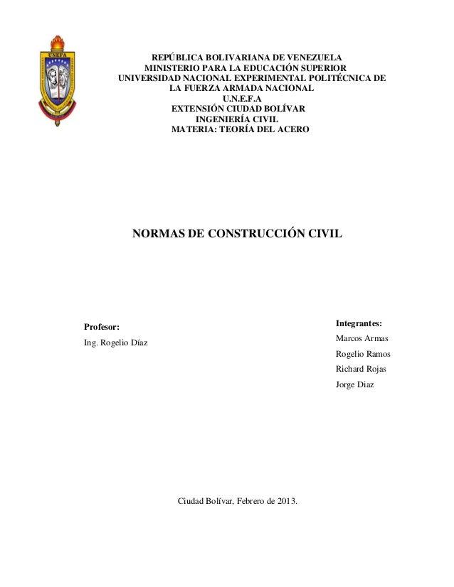 REPÚBLICA BOLIVARIANA DE VENEZUELA MINISTERIO PARA LA EDUCACIÓN SUPERIOR UNIVERSIDAD NACIONAL EXPERIMENTAL POLITÉCNICA DE ...