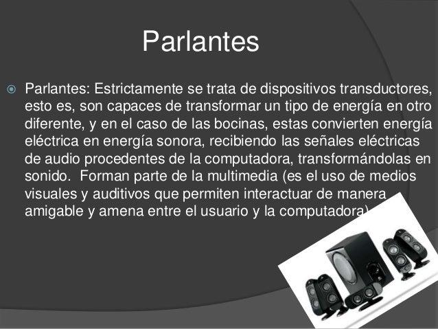 Trabajo de partes del computador - Definicion de multimedia ...