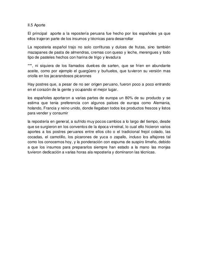 Trabajo de postres peruanos marco teorico