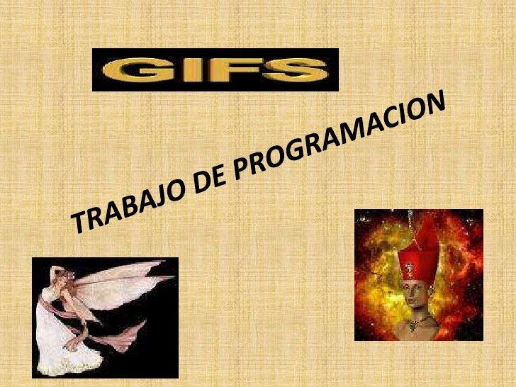 TRABAJO DE PROGRAMACION<br />