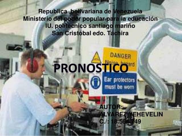 Republica bolivariana de Venezuela  Ministerio del poder popular para la educación  IU. politecnico santiago mariño  San C...