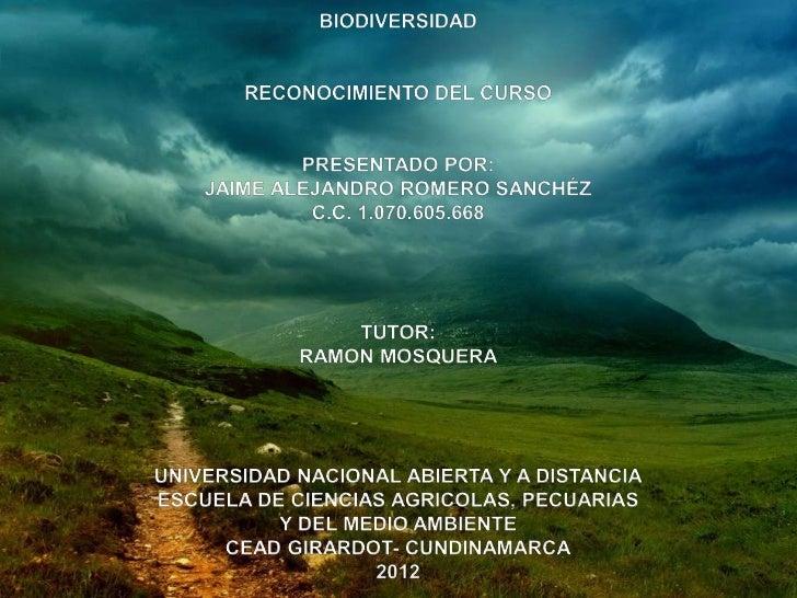 INTRODUCCIONPor medio de este trabajo se da la gran importancia que setiene a la biodiversidad .La biodiversidad es el fun...