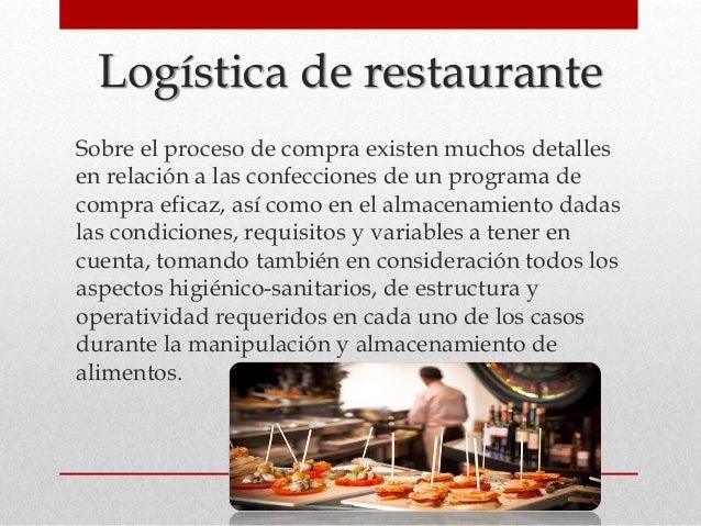 Logistica de un restaurante for Mapa de procesos de un restaurante